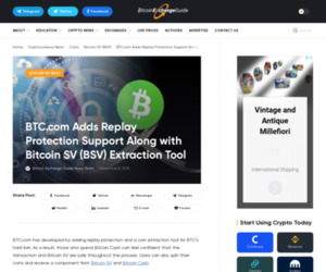 BTC.com Adds Replay Protection Support Along with Bitcoin SV (BSV) Extraction Tool