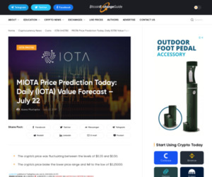 MIOTA Price Prediction Today: Daily (IOTA) Value Forecast – July 22 | BitcoinExchangeGuide