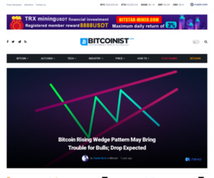 Bitcoin Rising Wedge Pattern May Bring Trouble for Bulls; Drop Expected | Bitcoinist.com