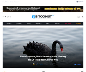 """Black Swan Author Is """"Getting Rid Of"""" His Bitcoin, Here's Why"""