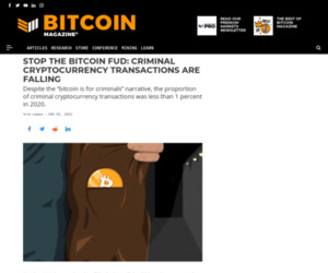 FUD Buster: 2020 Saw Crypto-Fueled Crime Fall %%page%% %%sep%% %%sitename%% - Bitcoin Magazine: Bitcoin News, Articles, Charts, and Guides