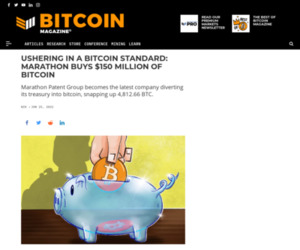Marathon Buys $150 Million Of BTC %%page%% %%sep%% %%sitename%% - Bitcoin Magazine: Bitcoin News, Articles, Charts, and Guides
