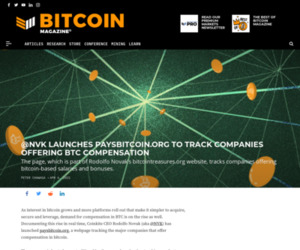 PaysBitcoin.org Tracks BTC Compensation - Bitcoin Magazine: Bitcoin News, Articles, Charts, and Guides