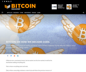Bitcoin How We Became Gods - Bitcoin Magazine: Bitcoin News, Articles, Charts, and Guides