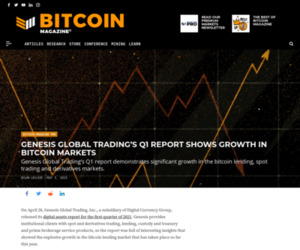 Genesis Report Shows Bitcoin Market Growth - Bitcoin Magazine: Bitcoin News, Articles, Charts, and Guides