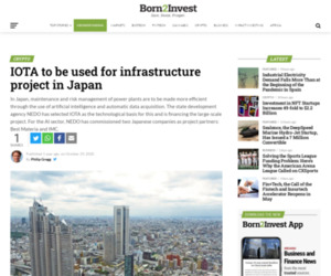 IOTA to be used for infrastructure project in Japan