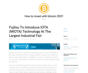 Fujitsu To Introduce IOTA (MIOTA) Technology At The Largest Industrial Fair – How to invest with bitcoin 2020