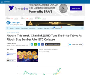 Altcoins This Week: Chainlink (LINK) Tops The Price Tables As Altcoin Stay Somber After BTC Collapse