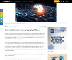 Craig Wright explains the cryptography of Bitcoin - CoinGeek