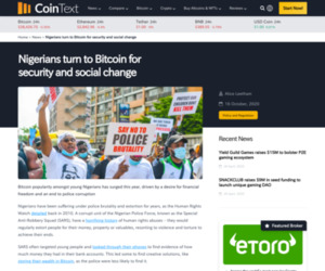 Nigerians Turn To Bitcoin For Security And Social Change   Coinlist.me