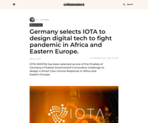 Germany selects IOTA to design digital tech to fight pandemic in Africa and Eastern Europe. - Coinnounce