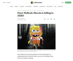 Peter Mallouk: Bitcoin is falling to ZERO - Coinnounce