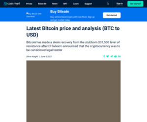 Latest Bitcoin price and analysis (BTC to USD) - Coin Rivet
