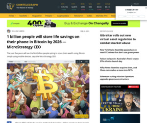 1 billion people will store life savings on their phone in Bitcoin by 2026 — MicroStrategy CEO
