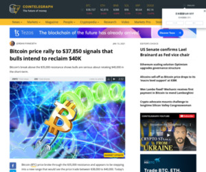 Bitcoin price rally to $37,850 signals that bulls intend to reclaim $40K
