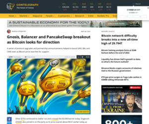 Gnosis, Balancer and PancakeSwap breakout as Bitcoin looks for direction