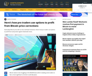 Here's how pro traders use options to profit from Bitcoin price corrections