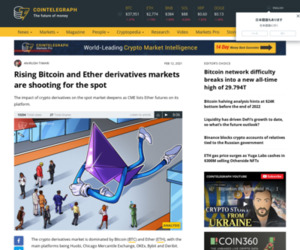 Rising Bitcoin and Ether derivatives markets are shooting for the spot