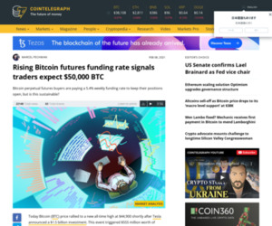 Rising Bitcoin futures funding rate signals traders expect $50,000 BTC