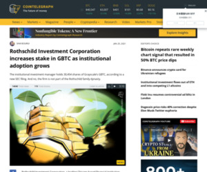 Rothschild Investment Corporation increases stake in GBTC as institutional adoption grows