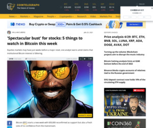 'Spectacular bust' for stocks: 5 things to watch in Bitcoin this week