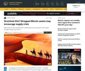 Stretched thin? Wrapped Bitcoin assets may encourage supply crisis