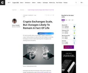 Crypto Exchanges Scale, But Outages Likely To Remain A Fact Of Life