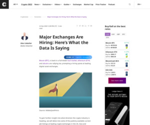 Major Exchanges Are Hiring: Here's What the Data Is Saying