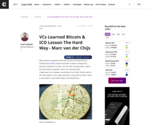 VCs Learned Bitcoin & ICO Lesson The Hard Way - Marc van der Chijs