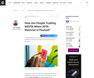 How Are People Trading MIOTA When IOTA Mainnet is Paused?