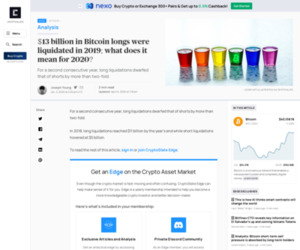 $13 billion in Bitcoin longs were liquidated in 2019; what does it mean for 2020? | CryptoSlate