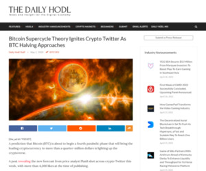 Bitcoin Supercycle Theory Ignites Crypto Twitter As BTC Halving Approaches | The Daily Hodl