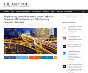 Ripple Survey Unveils Real-World Interest in Bitcoin, Ethereum, XRP, Stablecoins and CBDCs Among Payments Executives   The Daily Hodl