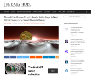 Three Little-Known Crypto Assets Set to Erupt in Next Bitcoin Supercycle, Says Influential Trader | The Daily Hodl