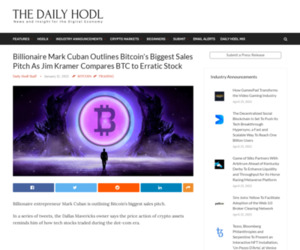 Billionaire Mark Cuban Outlines Bitcoin's Biggest Sales Pitch As Jim Kramer Compares BTC to Erratic Stock | The Daily Hodl