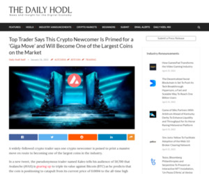 Top Trader Says This Crypto Newcomer Is Primed for a 'Giga Move' and Will Become One of the Largest Coins on the Market | The Daily Hodl