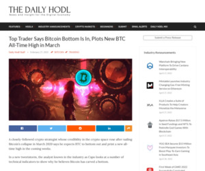 Top Trader Says Bitcoin Bottom Is In, Plots New BTC All-Time High in March | The Daily Hodl