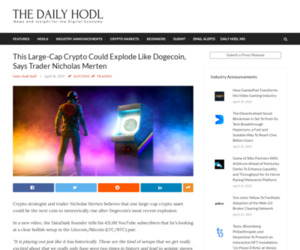 This Large-Cap Crypto Could Explode Like Dogecoin, Says Trader Nicholas Merten | The Daily Hodl