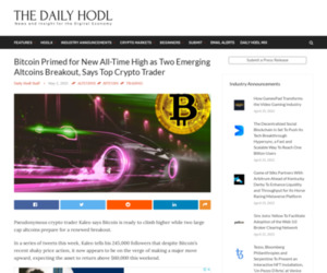 Bitcoin Primed for New All-Time High as Two Emerging Altcoins Breakout, Says Top Crypto Trader   The Daily Hodl