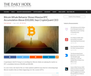 Bitcoin Whale Behavior Shows Massive BTC Accumulation Above $50,000, Says CryptoQuant CEO | The Daily Hodl