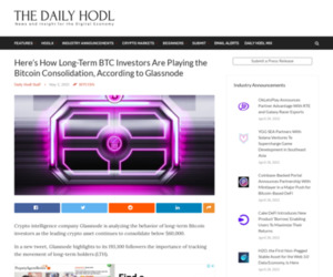 Here's How Long-Term BTC Investors Are Playing the Bitcoin Consolidation, According to Glassnode | The Daily Hodl