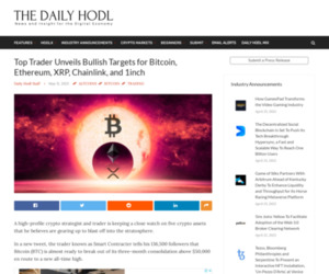 Top Trader Unveils Bullish Targets for Bitcoin, Ethereum, XRP, Chainlink, and 1inch | The Daily Hodl