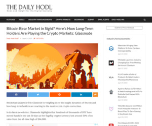 Bitcoin Bear Market in Sight? Here's How Long-Term Holders Are Playing the Crypto Markets: Glassnode | The Daily Hodl