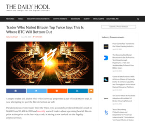 Trader Who Nailed Bitcoin Top Twice Says This Is Where BTC Will Bottom Out | The Daily Hodl