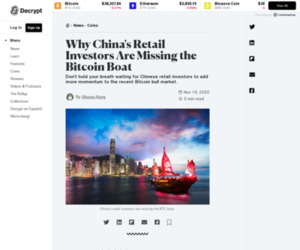 Why China's Retail Investors Are Missing the Bitcoin Boat - Decrypt