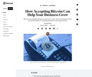 How Accepting Bitcoin Can Help Your Business Grow - Decrypt