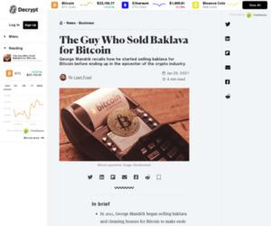 The Guy Who Sold Baklava for Bitcoin - Decrypt