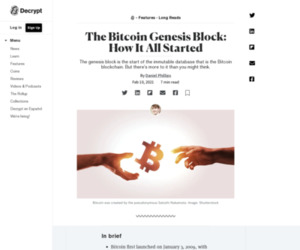 The Bitcoin Genesis Block: How It All Started - Decrypt