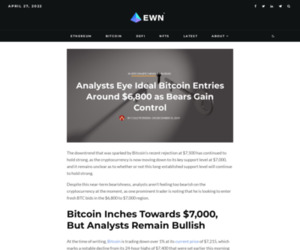 Analysts Eye Ideal Bitcoin Entries Around $6,800 as Bears Gain Control