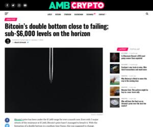 Bitcoin's double bottom close to failing; sub-$6,000 levels on the horizon - AMBCrypto